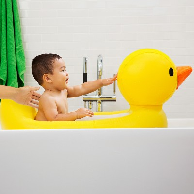 Munchkin White Hot Inflatable Duck Safety Baby Bath Tub, Yellow