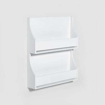 2-Tier White Book Shelf - Pillowfort™