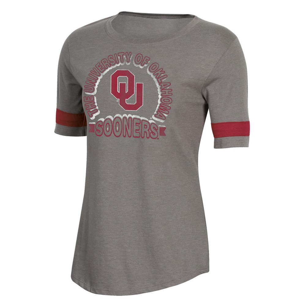 NCAA Women's Short Sleeve Scoop Neck T-Shirt Oklahoma Sooners - L, Multicolored
