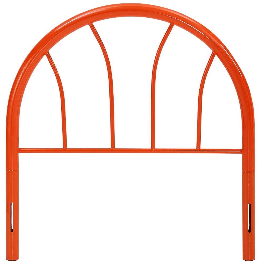 Image of Damaris Twin Steel Headboard Orange - Modway