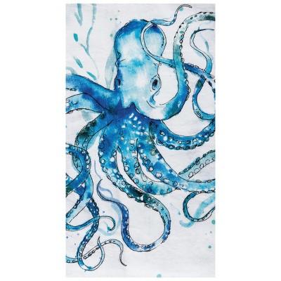 C&F Home Octopus Printed Cotton Flour Sack Kitchen Towel