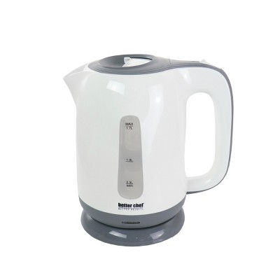 Better Chef 1.7 Liter Plastic Cordless Electric Kettle in White