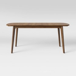 Astrid Mid Century Dining Table with Extension Leaf Brown - Project 62™