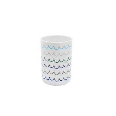 Round Tumbler with Cool Wave Decal White - Pillowfort™