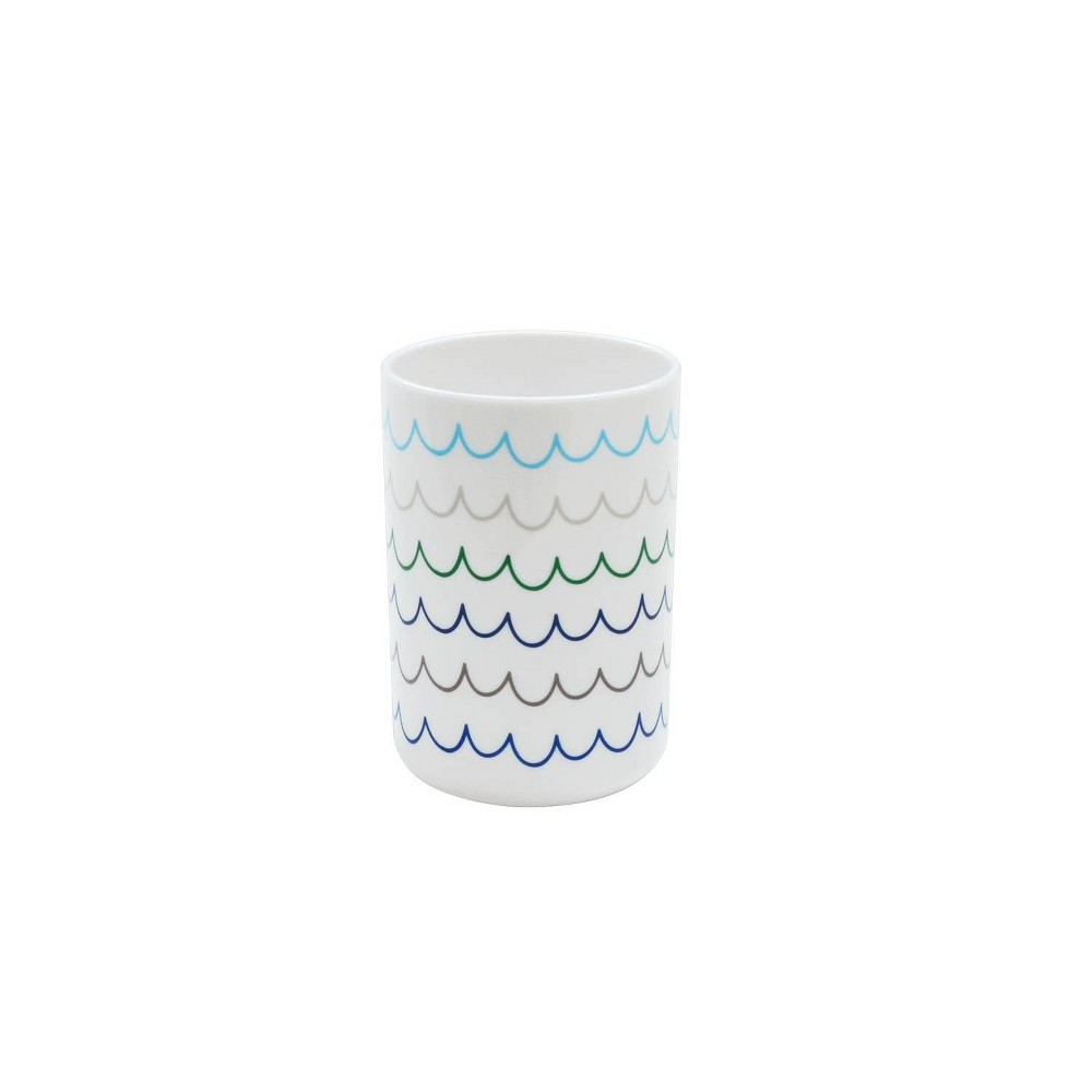 Round Tumbler with Cool Wave Decal White - Pillowfort Price