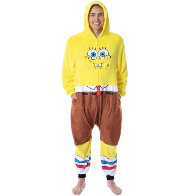 Nickelodeon Mens' SpongeBob SquarePants Costume Sleep Pajama Union Suit