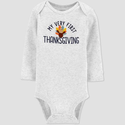 Baby My First Thanksgiving Bodysuit - Just One You® made by carter's Gray 9M