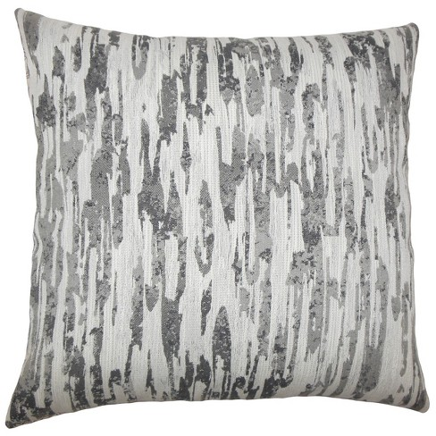 "Gray Square Throw Pillow (18""x18"") - The Pillow Collection - image 1 of 1"
