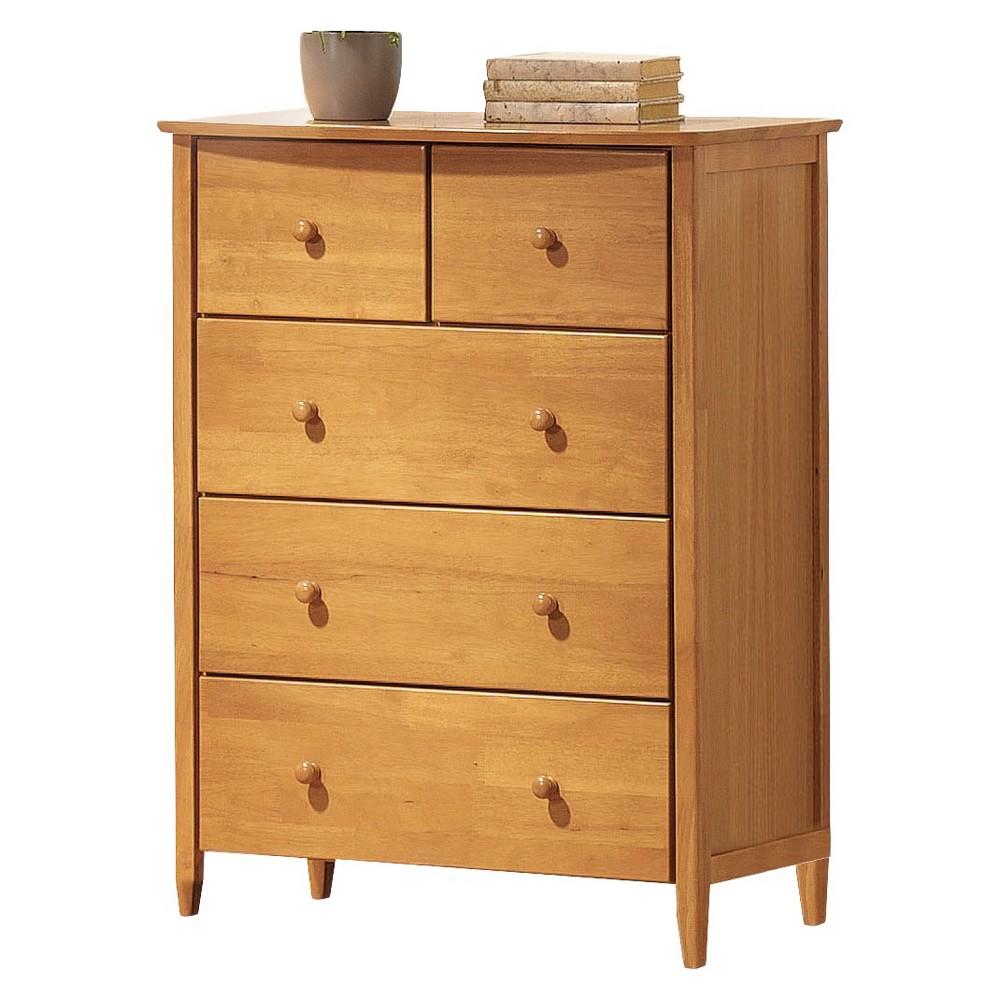 Image of San Marino Kids 5-Drawer Dresser - Maple - Acme, Gray