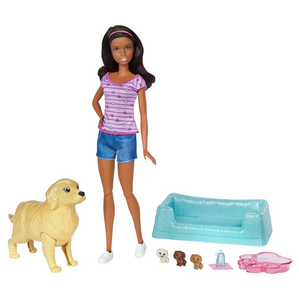 Barbie Newborn Pups and Nikki Doll Playset
