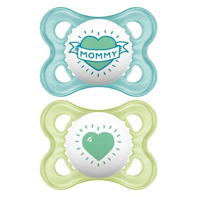 MAM Love & Affection Pacifier 0-6 Months - 2ct Blue