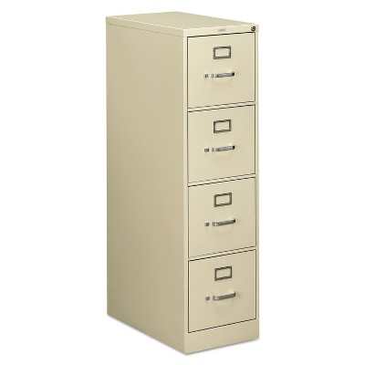 HON 510 Series Four-Drawer Full-Suspension File Letter 52h x25d Putty 514PL