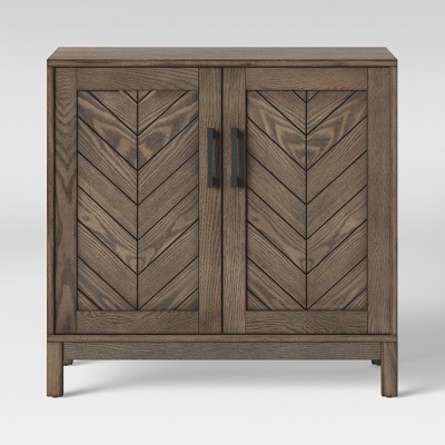 Eastford V Pattern Accent Cabinet Brown - Threshold™
