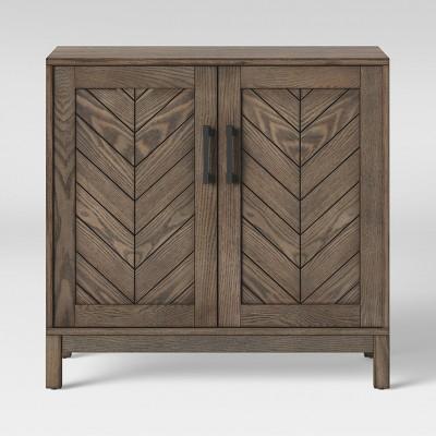 Eastford V Pattern Accent Cabinet Brown - Threshold™