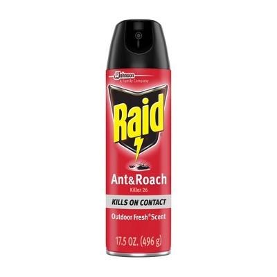 Raid Outdoor Fresh Ant & Roach Killer Spray 26 - 17.5oz/1ct