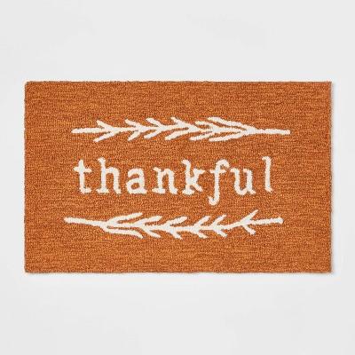 "30"" x 18"" Cotton Thankful Kitchen Rug - Threshold™"
