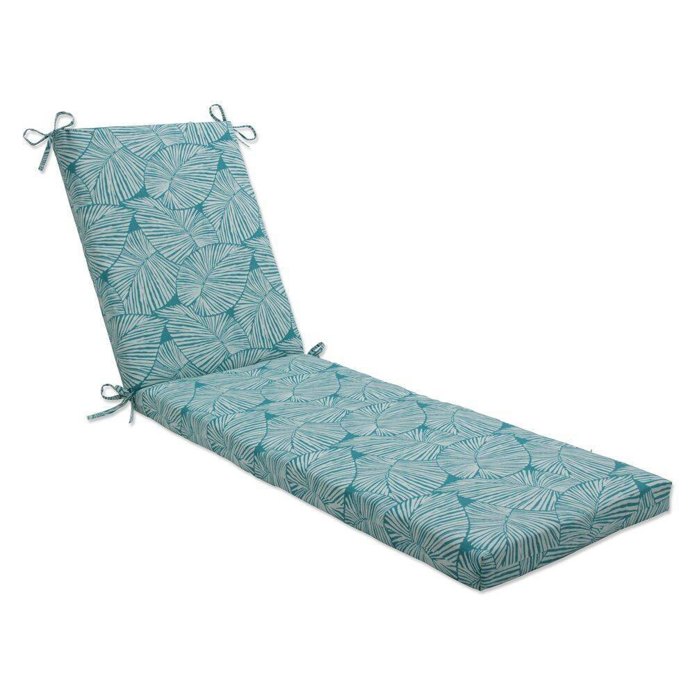 80 34 X 23 34 Outdoor Indoor Chaise Lounge Cushion Talia Seaglass Green Pillow Perfect