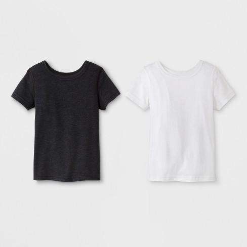 557e98f9b Toddler Boys' 2pk Adaptive Short Sleeve T-Shirt - Cat & Jack™ Black/White