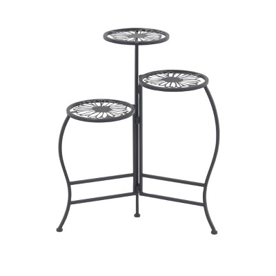 3-Tier Modern Floral Folding Plant Stand - Olivia & May