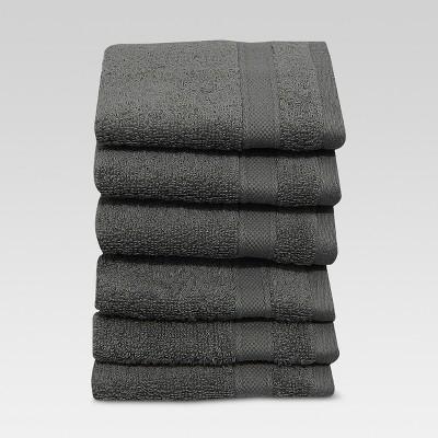 Washcloths 6pc Classic Gray - Threshold™