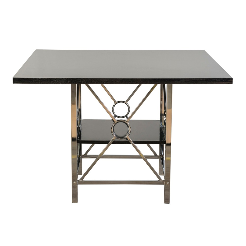 Jaime Metal Table Silver/Black - Home Source Industries
