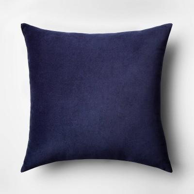 Velvet Square Throw Pillow Blue - Room Essentials™
