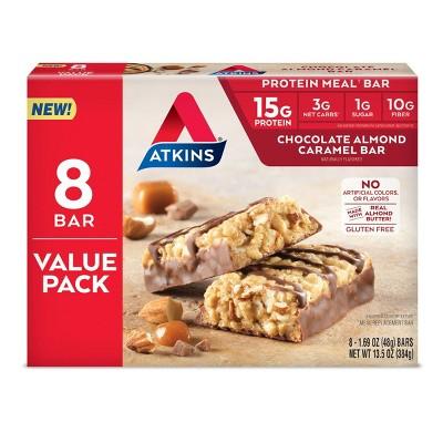 Atkins Almond Caramel Meal Bars - 8ct