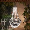 High Solar LED Metal and Acrylic Beaded Chandelier - Gerson International - image 2 of 2