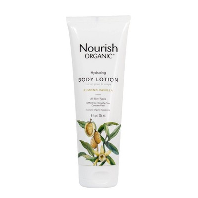 Nourish Organic Hydrating & Smooth Almond Vanilla Body Lotion - 8oz