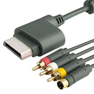AV Composite And S-Video Cable Compatible With Microsoft Xbox 360 / Xbox 360 Slim : Target