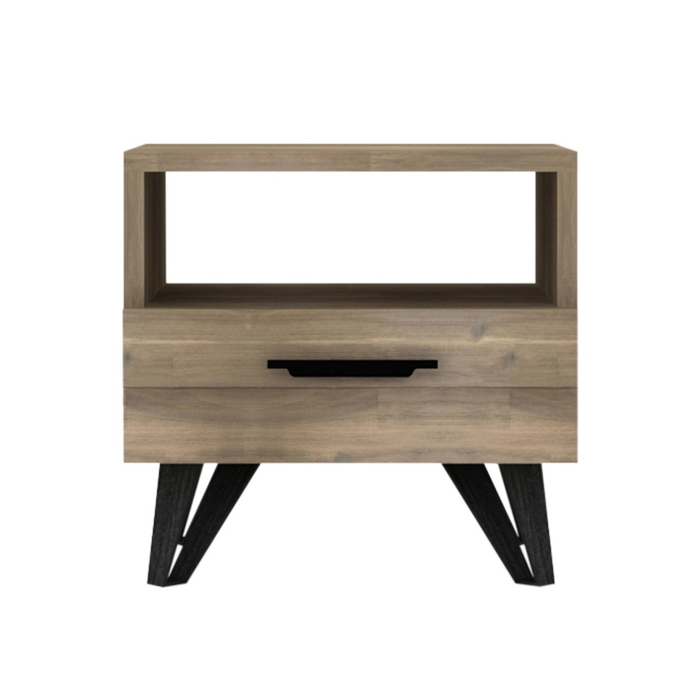 Charlie Mid Century Wood End Table Natural - Abbyson Living