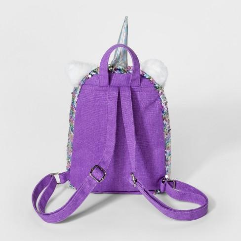 Girls  Sequin Unicorn Mini Backpack - Cat   Jack™   Target 78ed2da8a5e6f