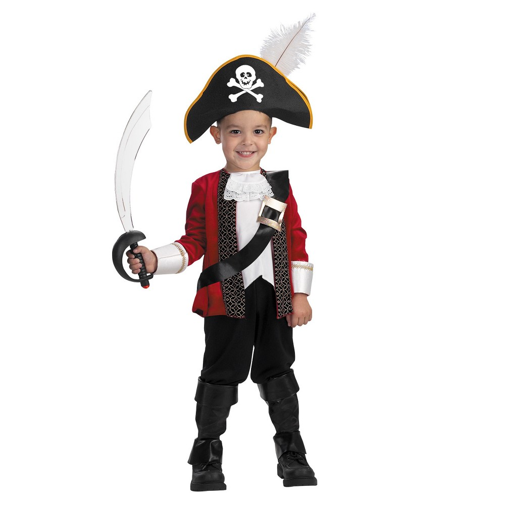 Image of Halloween Boys' El Capitan Toddler Costume 3t 4t, Boy's, Size: 3T-4T, MultiColored