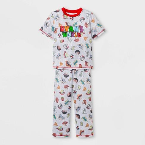 Boys  Ryan s World 2pc Pajama Set - Gray   Target 55444ec87