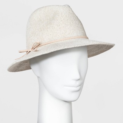 Women's Chenille Fedora Hat - A New Day™ Cream One Size
