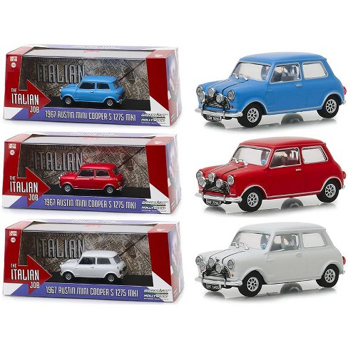 Mini Cooper Models >> Austin Mini Cooper 3 Piece Set The Italian Job 1969 Movie 1 43 Diecast Model Cars By Greenlight
