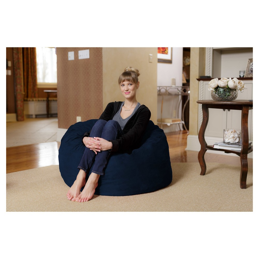 Image of 3 ft Microsuede Sack Navy - Relax Sack
