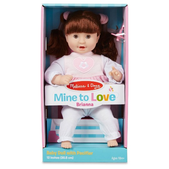 "Melissa & Doug Standard Mine to Love Brianna 12"" Soft Body Baby Doll image number null"