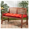 Solid Outdoor Bench Cushion - Kensington Garden - image 2 of 4