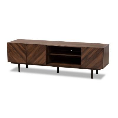 """70"""" TV Stand Berit Wood Walnut - Baxton Studio"""