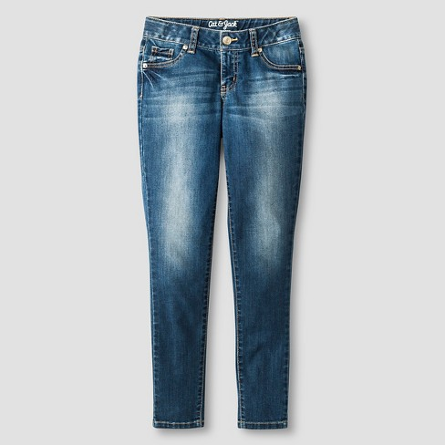 Girls' Super Skinny Jean - Cat & Jack™ Medium Wash - image 1 of 3