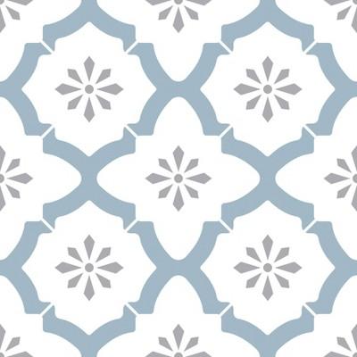 FloorPops Set of 20 Alfama Peel & Stick Floor Tiles White