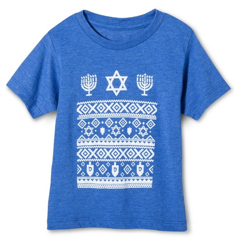 Toddler Boys' Hanukkah T-Shirt - Royal 12 M - image 1 of 1