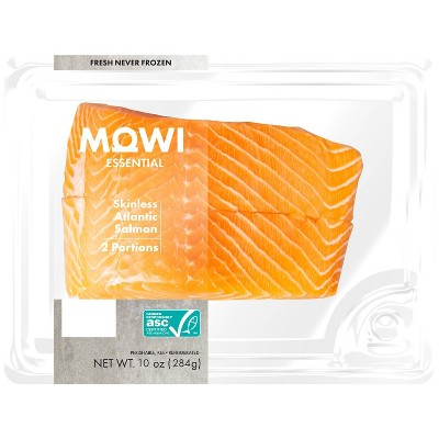 MOWI Fresh Skinless Atlantic Salmon - 2pk/10oz