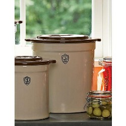 3-Gallon Stoneware Pickling Crock Complete Kit - Gardener's Supply Company