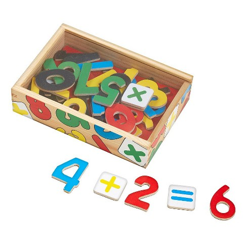 Melissa & Doug® 37 Wooden Number Magnets in a Box - image 1 of 2