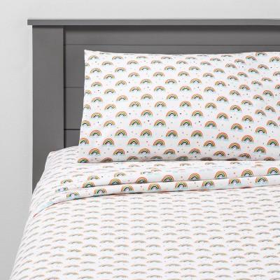 Twin Radiant Rainbow Flannel Sheets - Pillowfort™