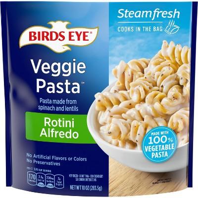 Birds Eye Frozen Spinach Lentil Veggie Pasta Rotini Alfredo - 10oz