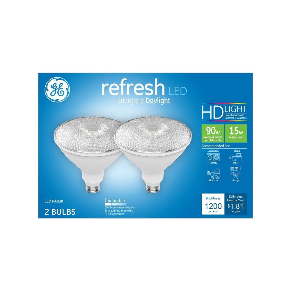 Ge Refresh Light Bulb Led Dl Par38 90W 2pk