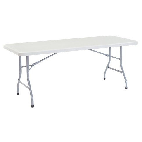 """30"""" x 72"""" Heavy Duty Folding Table Speckled Gray - Hampton Collection - image 1 of 4"""